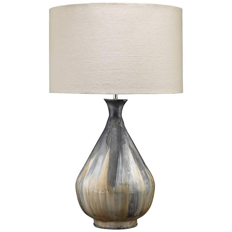 Jamie Young Daybreak Gray Enameled Metal Table Lamp