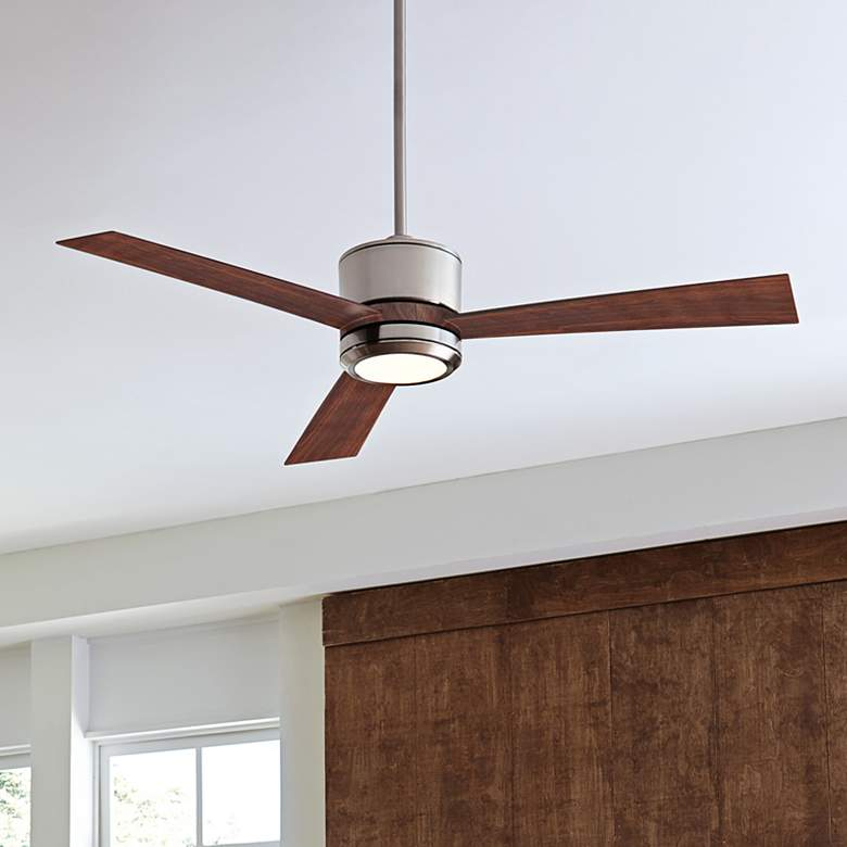 "42"" Monte Carlo Vision II Brushed Steel LED Ceiling Fan"
