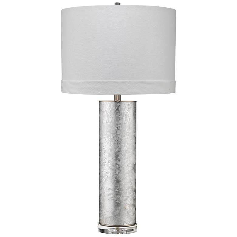 Jamie Young Feathered Silver Glass Column Table Lamp