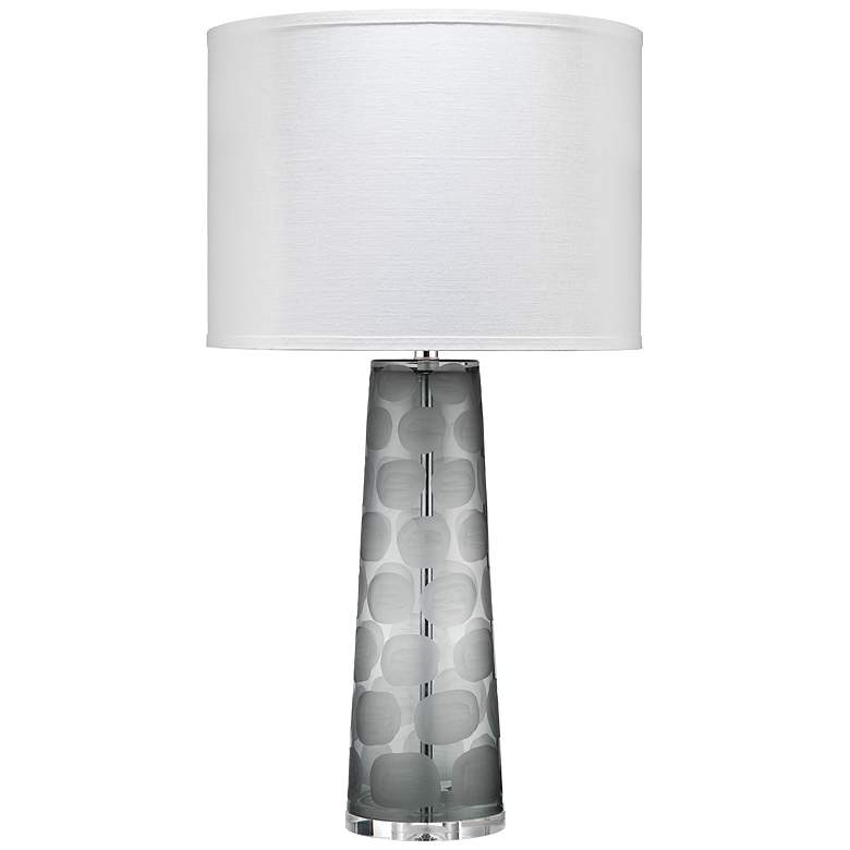 Jamie Young Pebble Gray Circles Glass Table Lamp