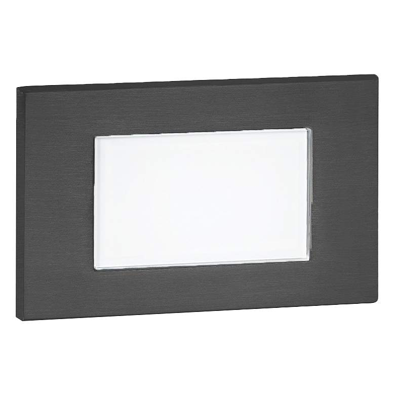 "WAC 5"" Wide Black Tempered Glass LED Step Light"