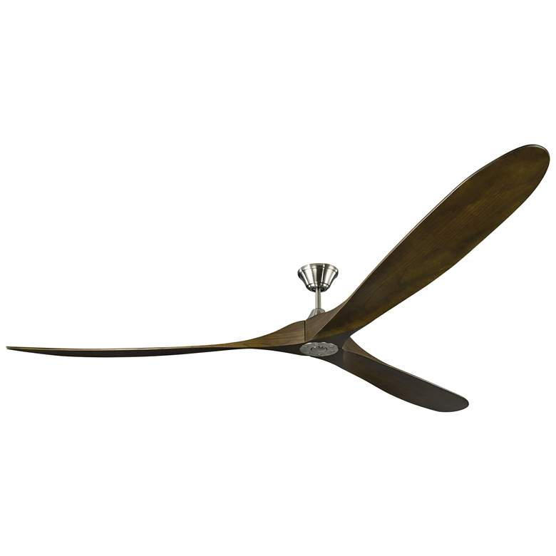 "99"" Monte Carlo Maverick Grand Brushed Steel Ceiling Fan"