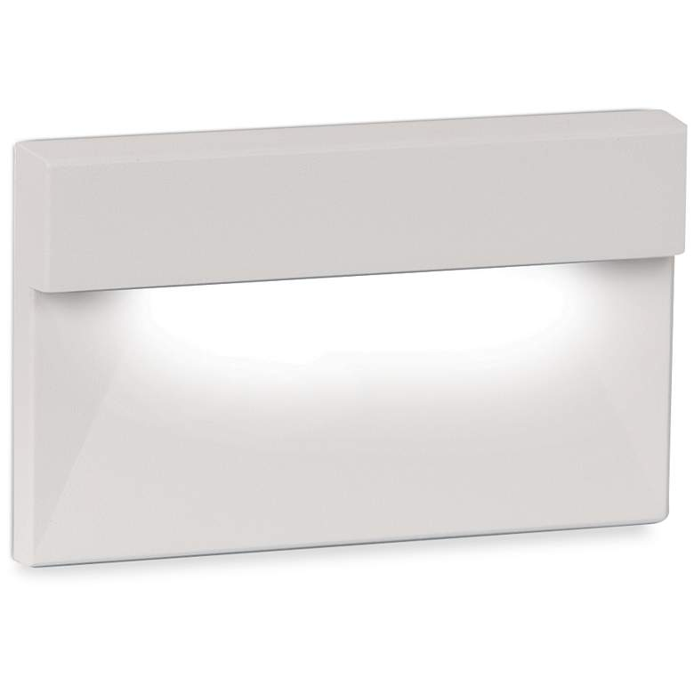"WAC 5"" Wide White Geometric Downward LED Step Light"