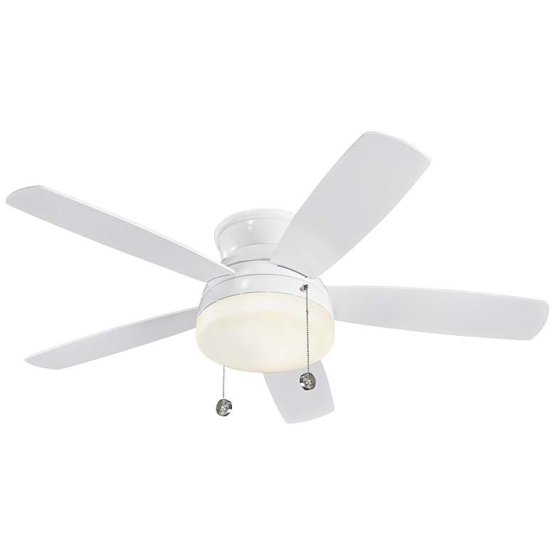 "52"" Monte Carlo Traverse White LED Hugger Ceiling Fan"