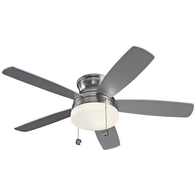 """52"""" Monte Carlo Traverse Brushed Steel LED Ceiling Fan"""