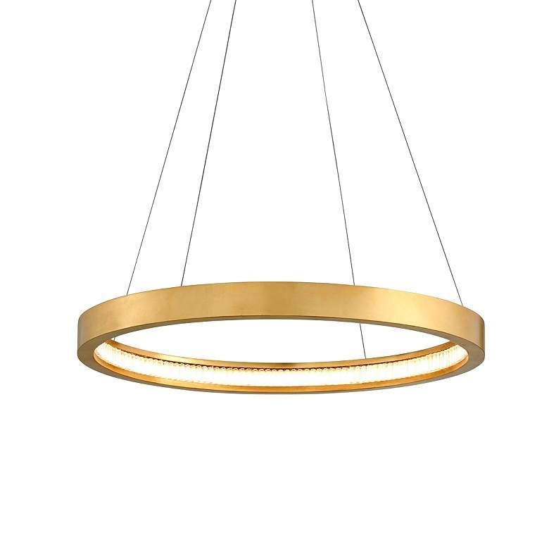 "Corbett Jasmine 28"" Wide Gold Leaf LED Pendant Light"