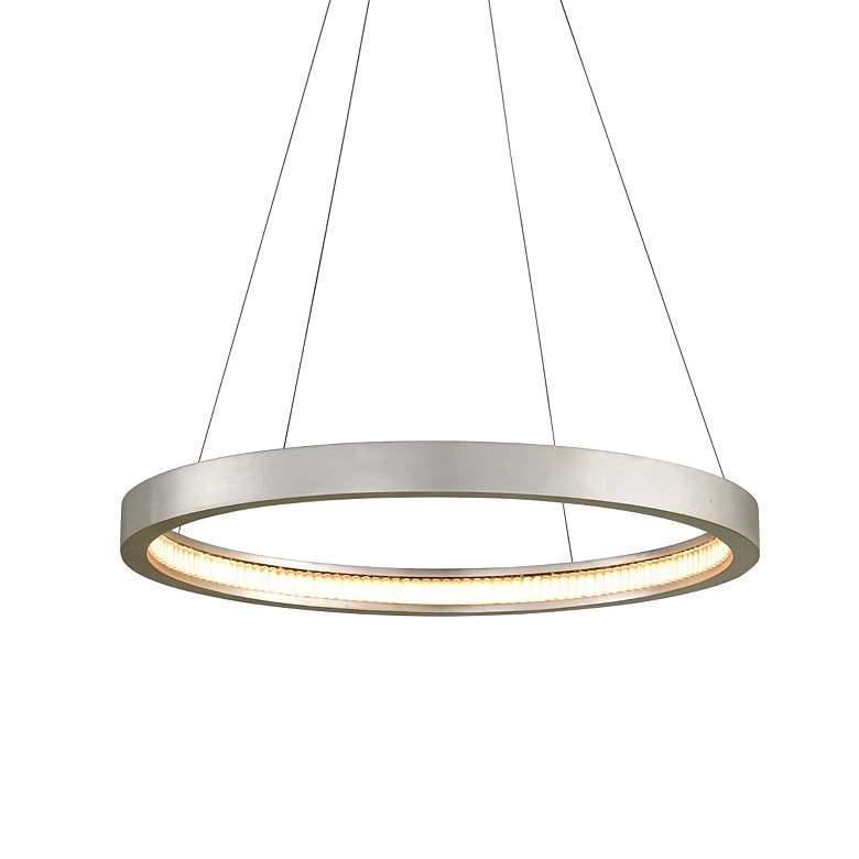 """Corbett Jasmine 28"""" Wide Silver Leaf LED Pendant Light"""