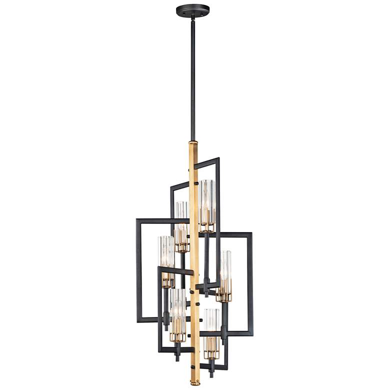 "Flambeau 19 1/4"" Wide Black Antique Brass 6-Light Pendant"