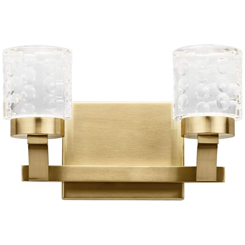 "Elan Rene 7"" High Champagne Gold 2-Light LED Wall Sconce"