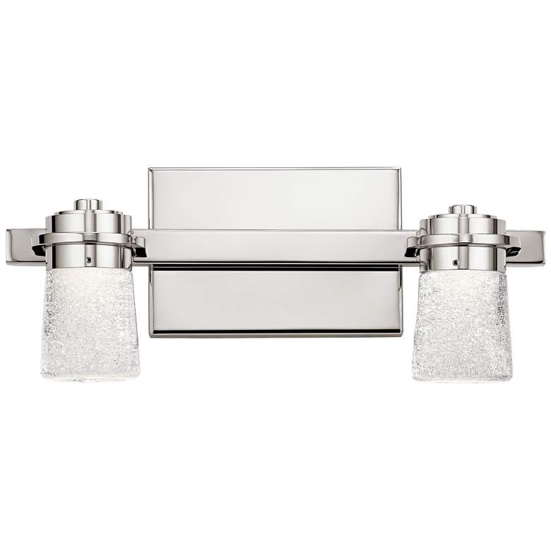 "Elan Vada 6 1/4""H Polished Nickel 2-Light LED Wall Sconce"