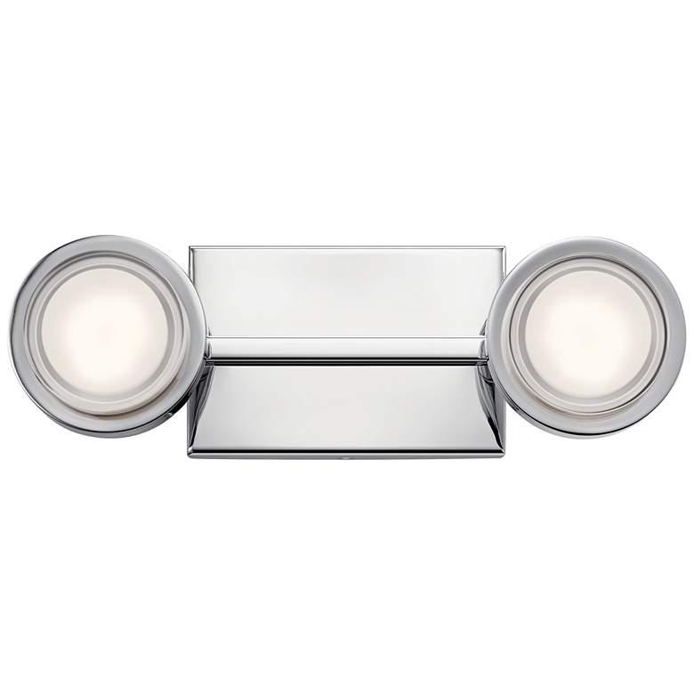 "Elan Harlaw 15"" Wide Chrome 2-Light LED Bath Light"