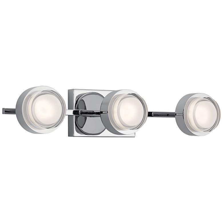 "Elan Harlaw 22"" Wide Chrome 3-Light LED Bath"