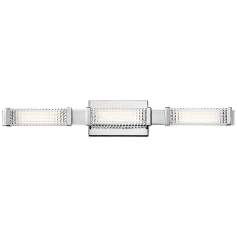 """Elan Ammiras 30 1/4"""" Wide Chrome 3-Light LED Bath Light"""