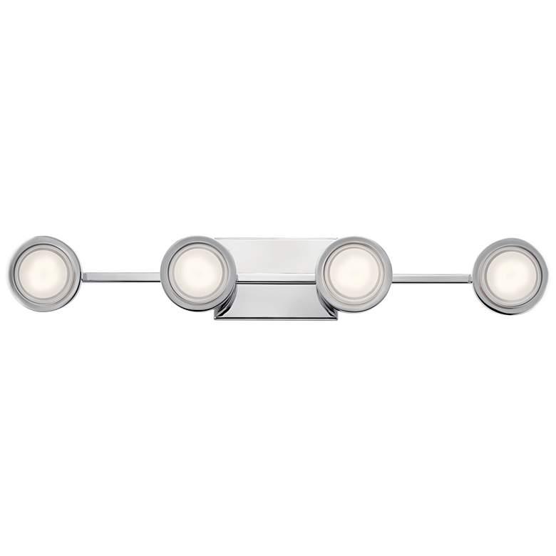 """Elan Harlaw 30 3/4"""" Wide Chrome 4-Light LED"""