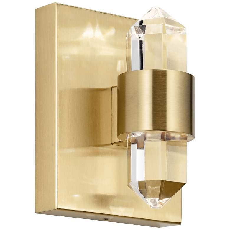 "Elan Arabella 6"" High Champagne Gold LED Wall Sconce"