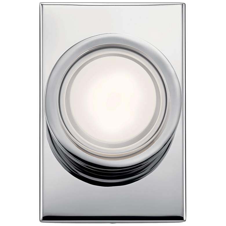 "Elan Harlaw 7"" High Chrome Metal LED Wall Sconce"