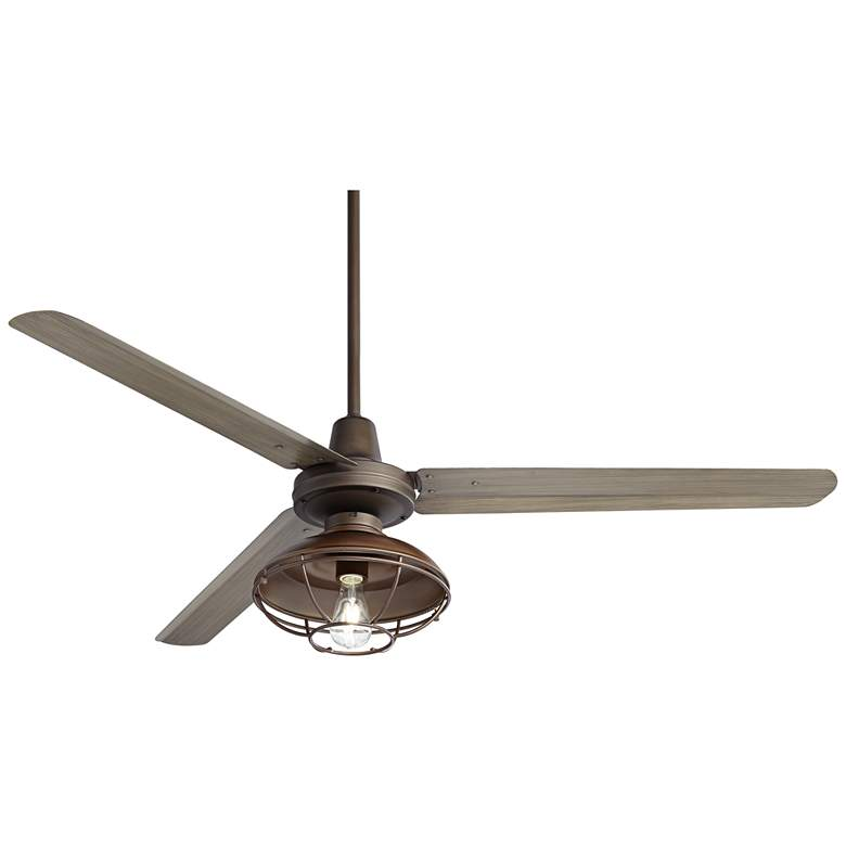 "60"" Turbina Bronze Light Wood Franklin Park LED Ceiling Fan"