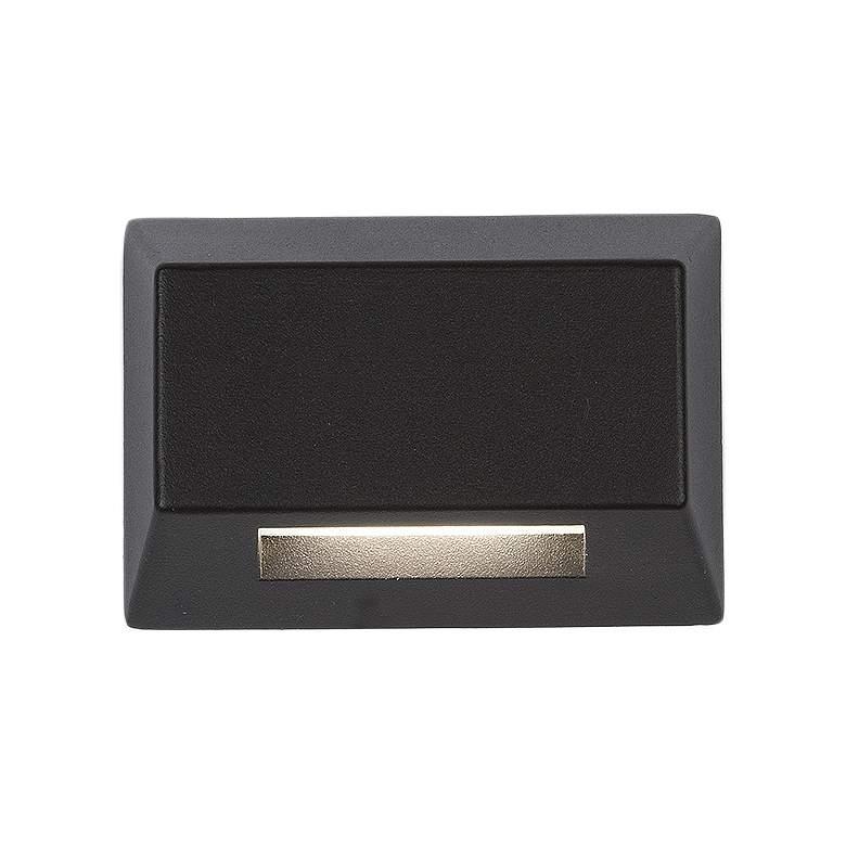 "WAC Rectangle 3 1/2"" Wide Bronze Aluminum LED Deck Light"