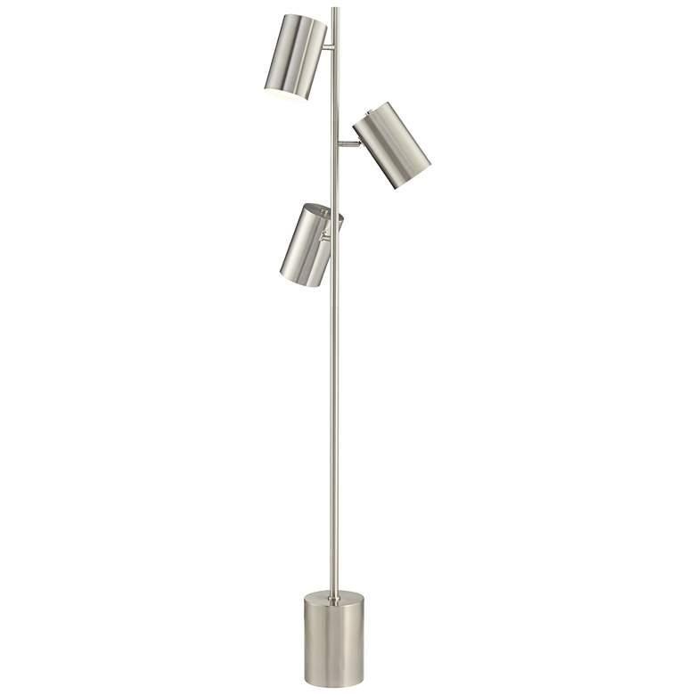 Sebring Satin Nickel Adjustable 3-Light Trac Tree Floor Lamp