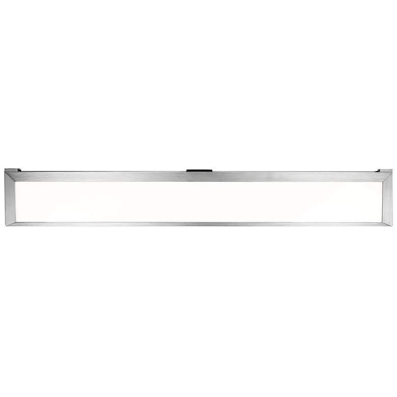 """LINE 2.0 31.97""""W Brushed Aluminum LED Edge Lit"""