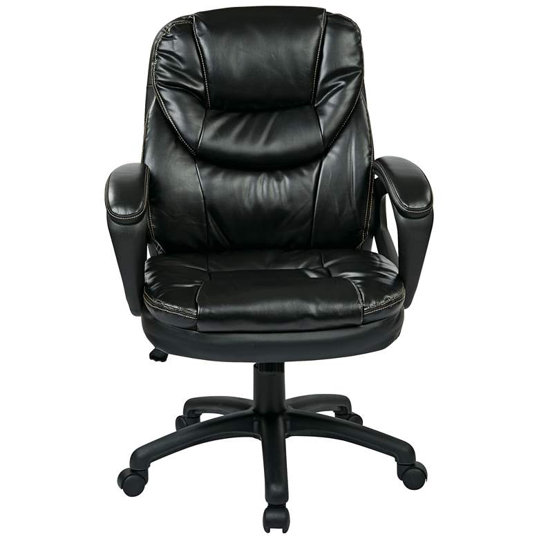 Landon Black Faux Leather Adjustable Office Managers Chair