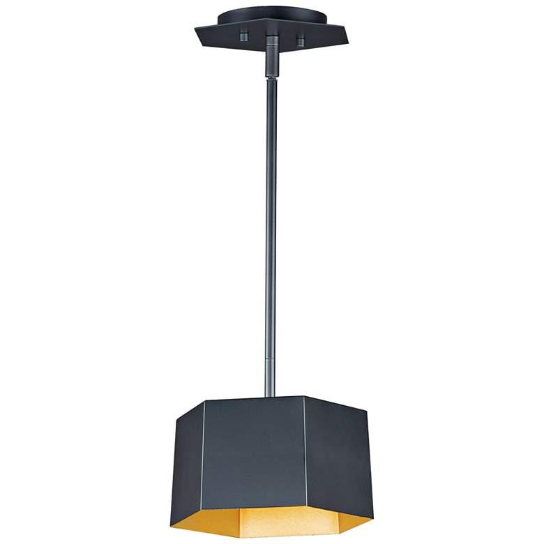 """Maxim Honeycomb 9""""W Black Gold LED Mini Pendant Light"""