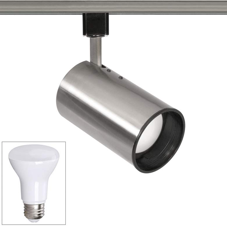 Nuvo Brushed Nickel BR20 LED Straight Cylinder Track