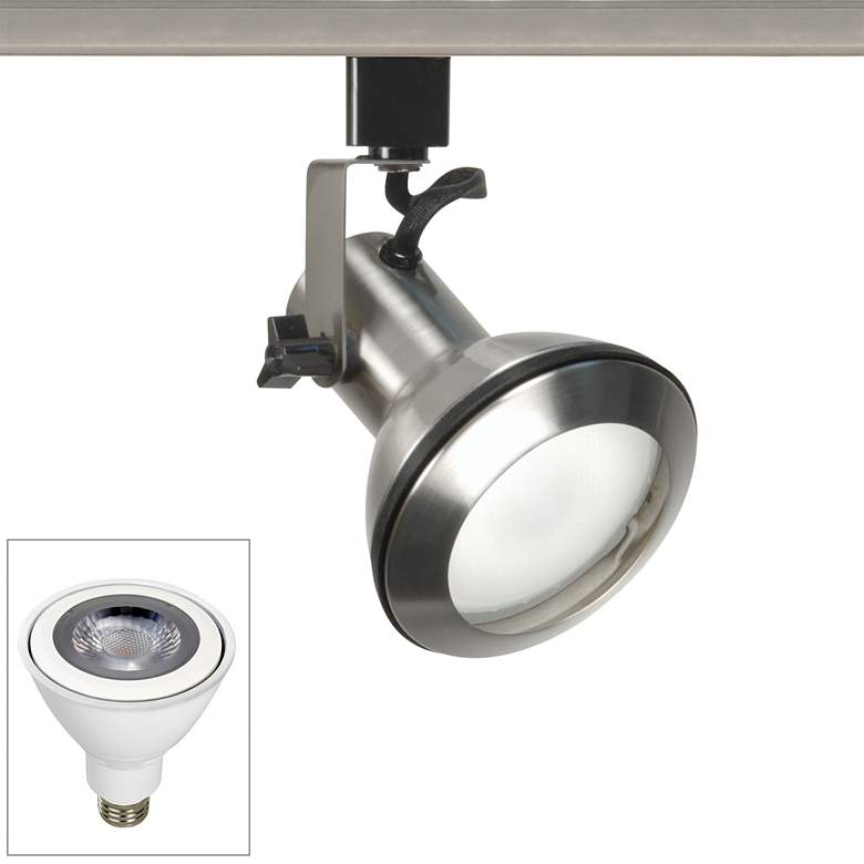 Nuvo Brushed Nickel PAR30 LED Euro Style Track