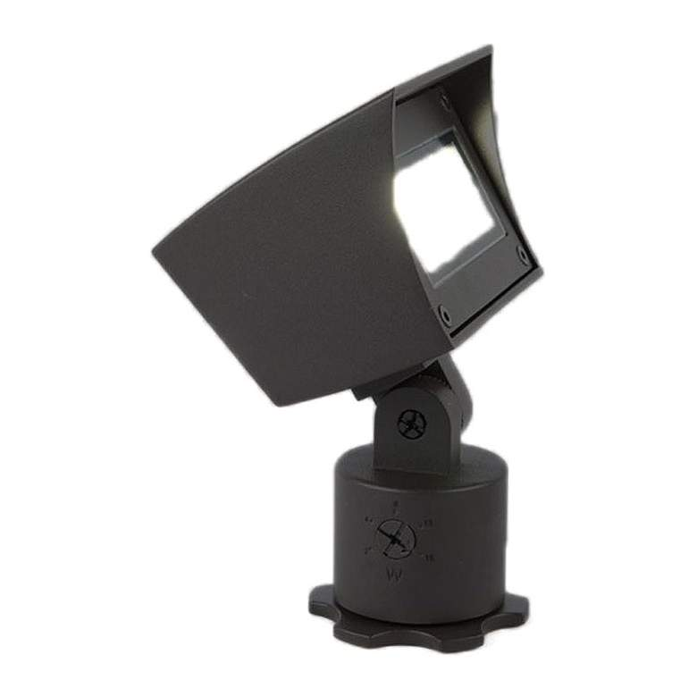 """WAC 6 1/4"""" High Black 120V LED Landscape Wall Wash Light"""
