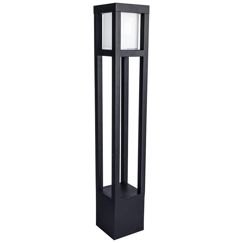 "WAC Tower 30"" High Black 12V LED Landscape Bollard Light"
