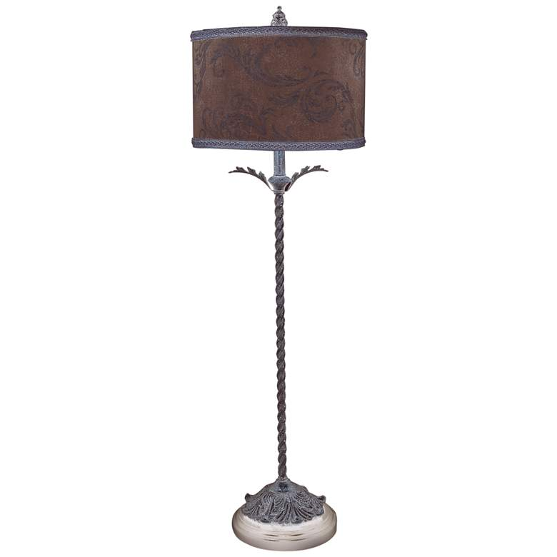 Acanthus Antique Style Twisted Table Lamp
