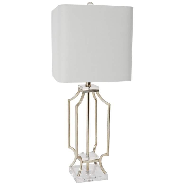 Elise Silver Open Frame Metal Table Lamp