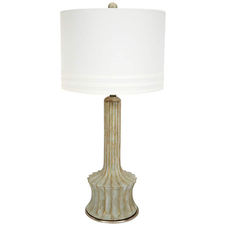 Cumby Cement Table Lamp with Gold Accents