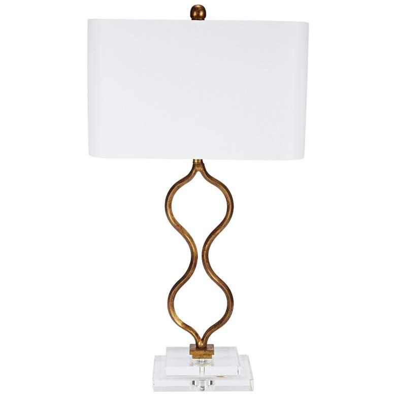 Antique Golden Curve Metal Table Lamp