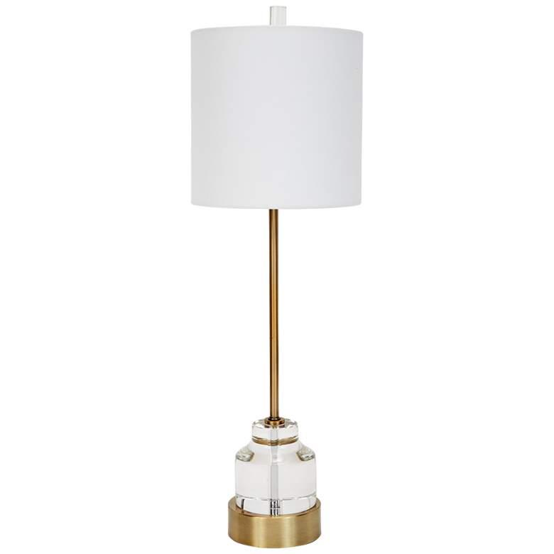 Renee Antique Gold Metal Buffet Table Lamp