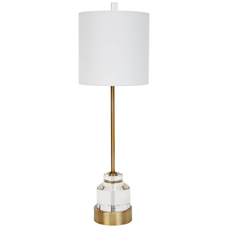 Renee Antique Gold Metal Buffet Table Lamp