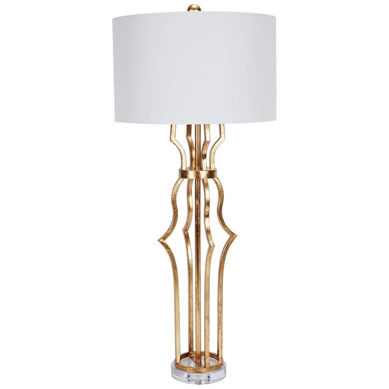 Erin Antique Gold Metal Buffet Table Lamp