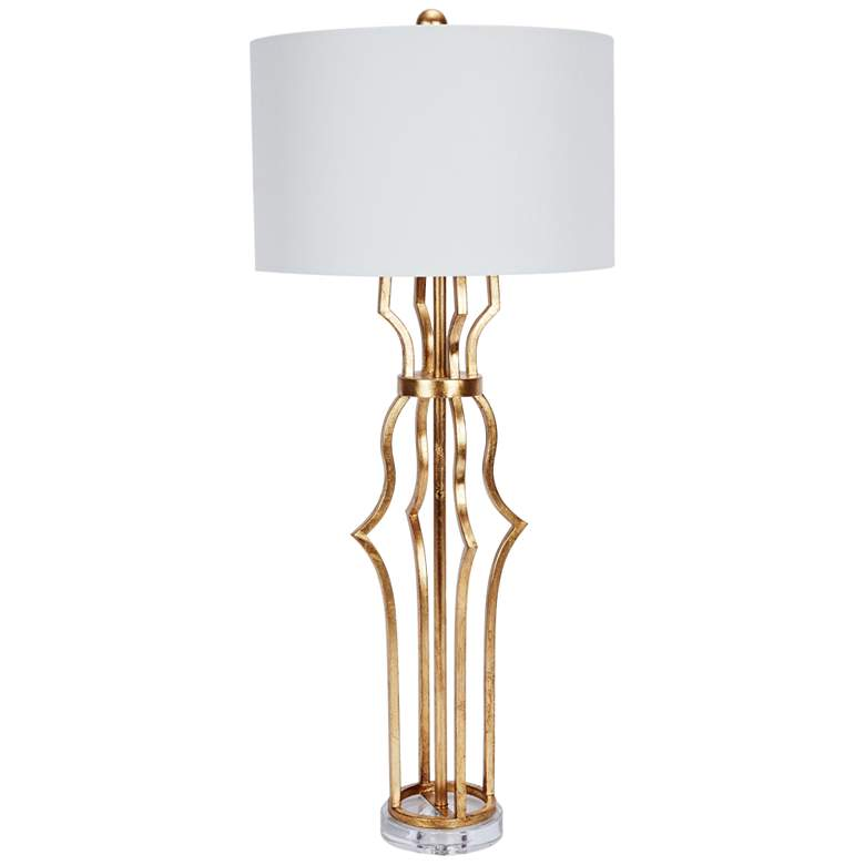 Erin Antique Gold Metal Buffet Table Lamp
