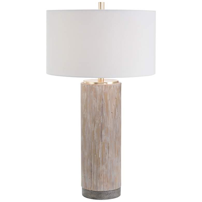 John Richard Concrete Cast Column Table Lamp