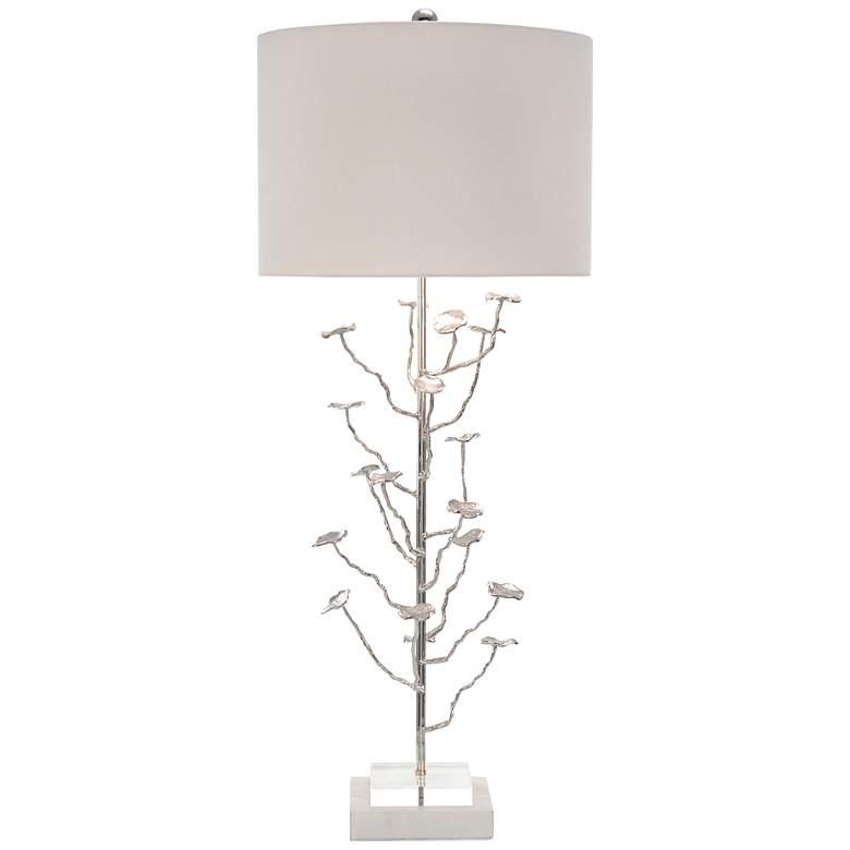 John Richard Organically Grown Nickel Sculptural Table Lamp