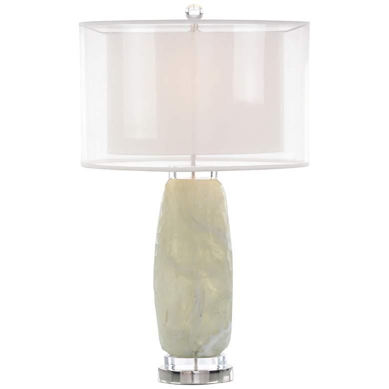 John Richard Organic Opulence Mottled Cream Glass Table