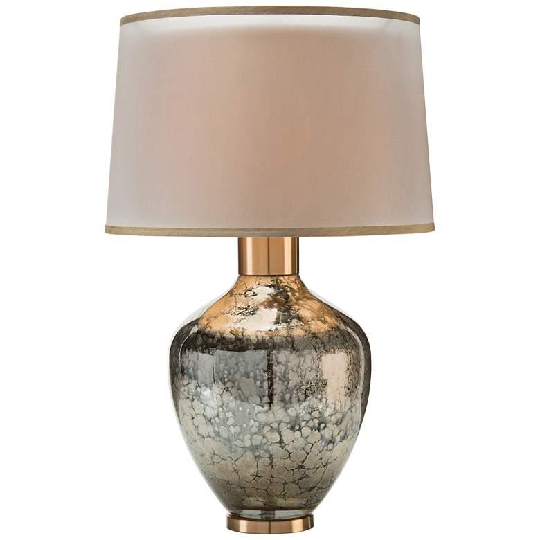 John Richard Mottled Metallic Silver Smoked Glass Table Lamp