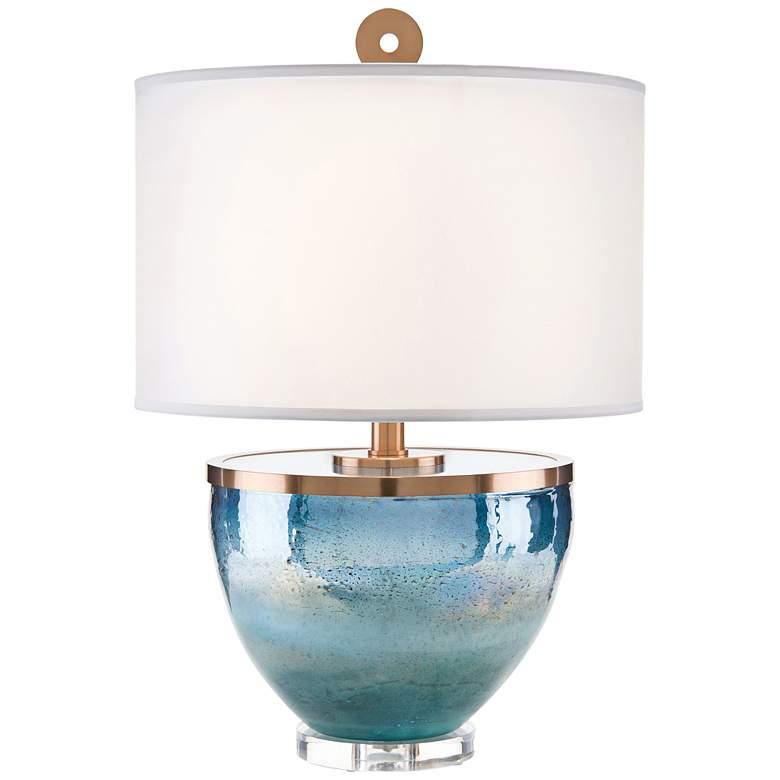 John Richard Islamorada Blue Glass Table Lamp