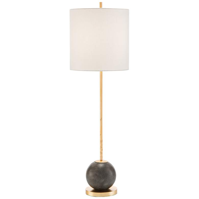 John Richard Gold Leaf and Oiled Bronze Buffet Table Lamp