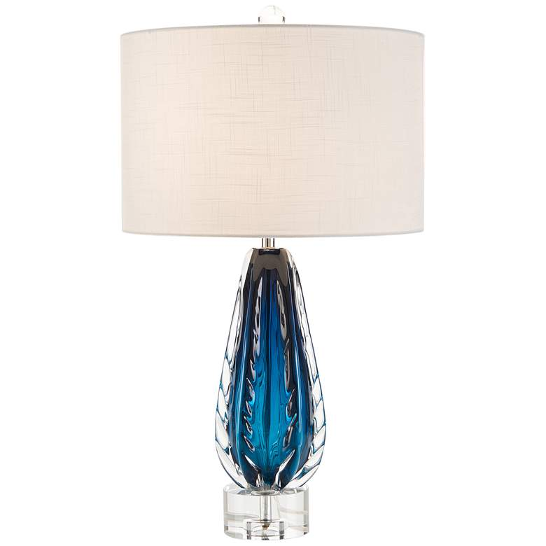 John Richard Amalfi Blue and Clear Glass Table Lamp