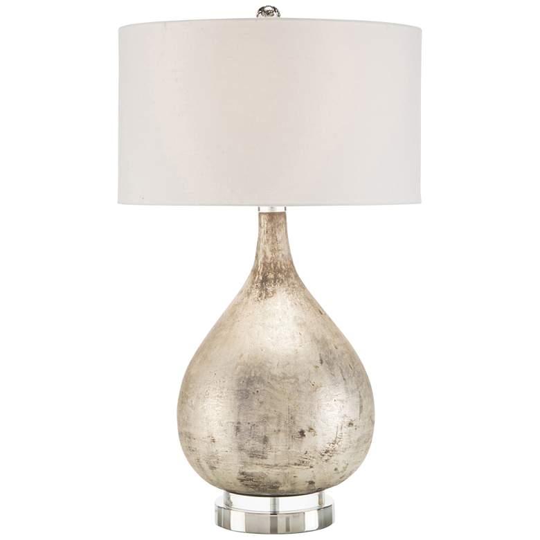 John Richard Weathered Silver Glass Table Lamp
