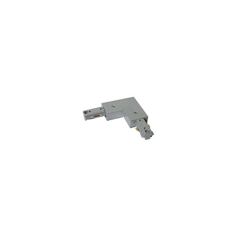 Silver Finish Halo Compatible L-Shaped Track Connector