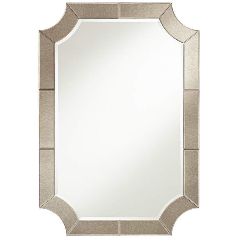 "Possini Euro Surri 27 3/4"" x 40"" Antiqued Wall Mirror"