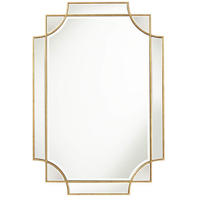 """Possini Euro Marten 30 3/4"""" x 45 1/4"""" Gold Wall Mirror"""