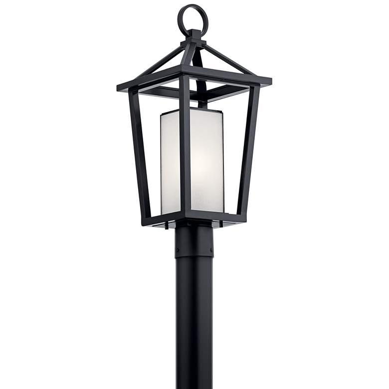 """Kichler Pai 21 3/4"""" High Black Open Cage Outdoor Post Light"""